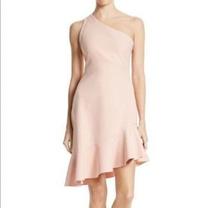 Cinq a Sept Stella Dress One Shoulder Light Pink
